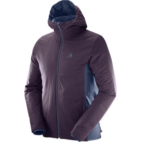 Salomon M's Drifter Mid Hoodie Jacket Dress Blue/Maverick